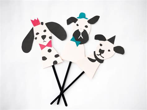 Puppet With Paper - free printable paper dogs puppets by la maison de