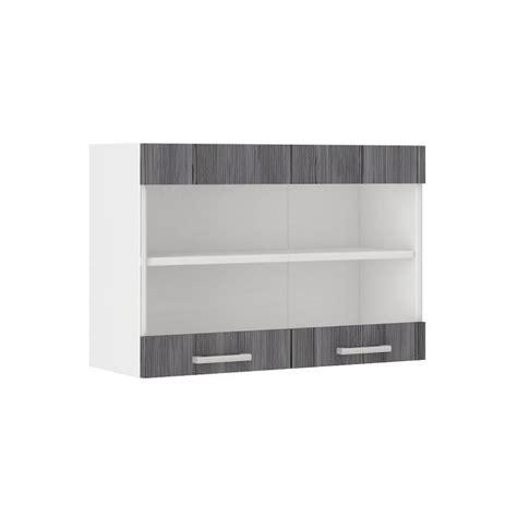 meuble haut cuisine 80 cm ultra meuble haut de cuisine l 80 cm d 233 cor ch 234 ne gris