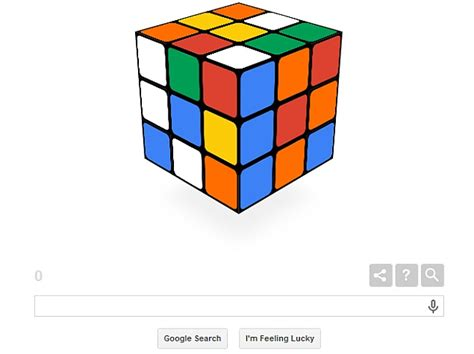 doodle rubik rubik s cube invention s 40th birthday celebrated with a