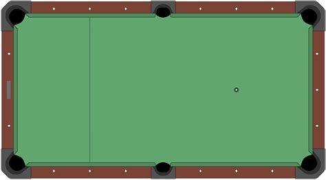 table top for pool table style pool table diagram empty png 1579 215 873