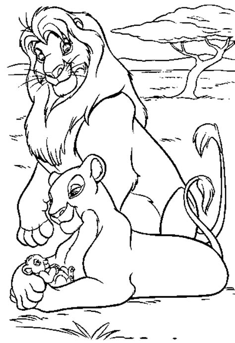 mufasa sarabi coloring pages
