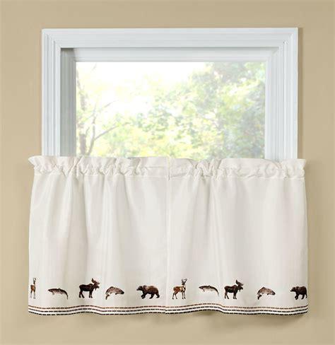 24 kitchen curtains lodge 24 quot kitchen curtain tier linens4less com