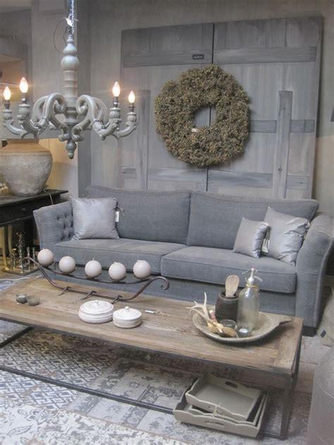 eethoek brocante great idee n over grijze banken op pinterest lounge with