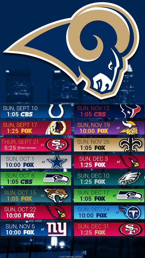 st rams schedule 2017 los angeles rams wallpapers pc iphone android