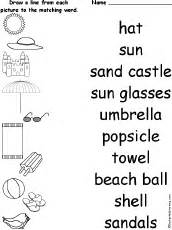 matching words and pictures worksheets