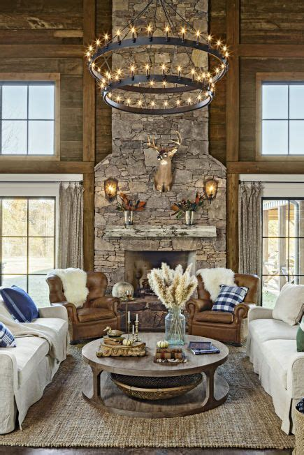 rustic chandelier ideas  country farmhouse