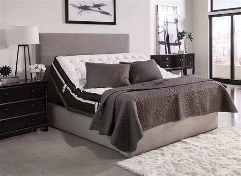extra large twin bed montclair gray twin extra large adjustable bed from
