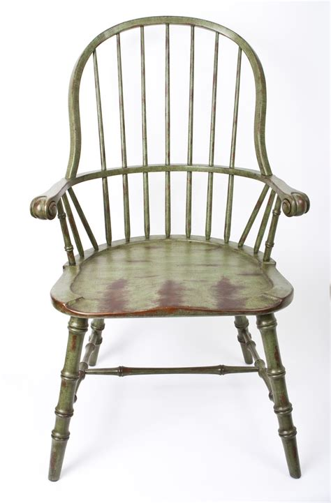 Home Furnishings Decor Green Distressed Windsor Chair Fine Furnishings