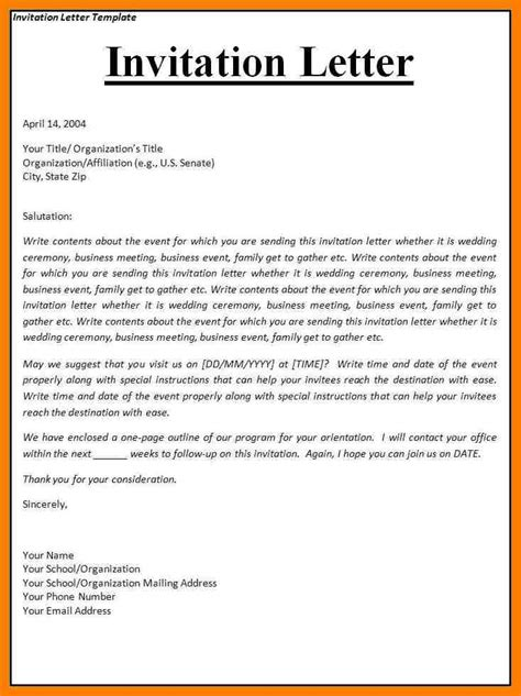 Business Letter Us event invitation sle email cogimbo us