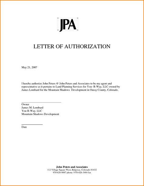 authorized letter authorization letter