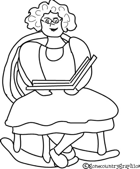 free birthday granny coloring pages