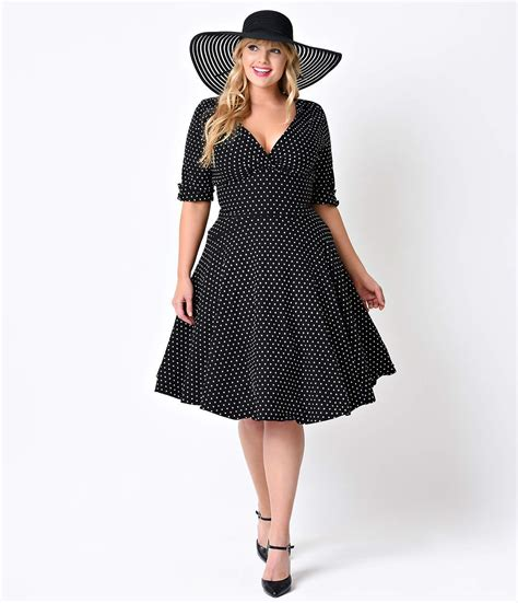 plus size white swing dress plus size polka dot dresses vintage 40s 50s 60s dresses