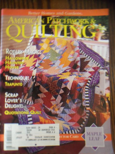 Patchwork And Quilting Magazine Back Issues - american patchwork quilting october 1993 issue 4 back