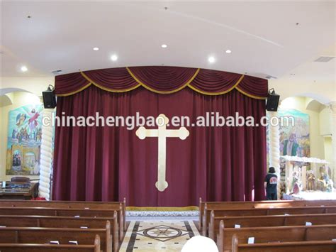 church curtains for sale china mororized velvet fabrics flame retardant blackout
