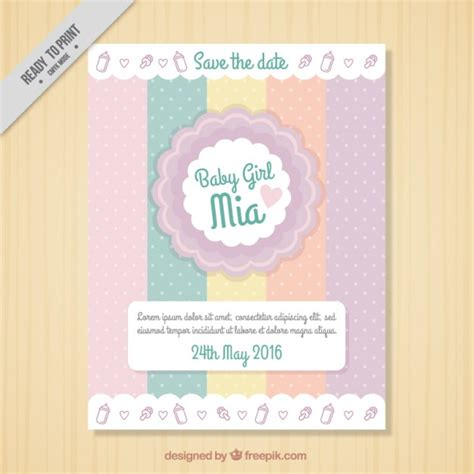 Baby Shower Band by Baby Shower Greeting With Dotted Bands Vector Free