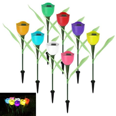 8colors hot sale outdoor garden solar led light solar
