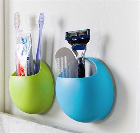 home bathroom toothbrush wall mount holder sucker suction