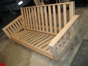 Wooden Futon Frame Plans by Woodwork Futon Woodworking Plans Pdf Plans