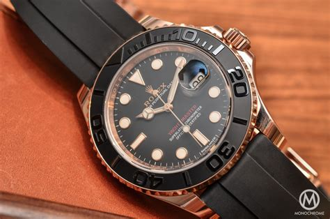 Hands on with the Rolex Yacht Master 116655 (Everose gold on Rubber Strap)   Live Photos & Price