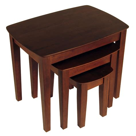 winsome wood end table antique walnut amazon com winsome wood nesting table antique walnut