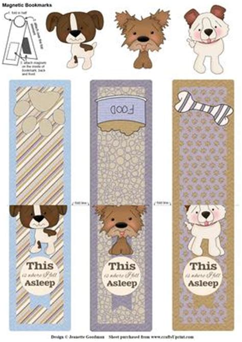 printable magnetic bookmarks cute puppy dog magnetic bookmarks cup552127 1550