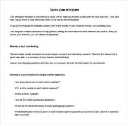 sales plan template sle sales plan template 17 free documents in pdf