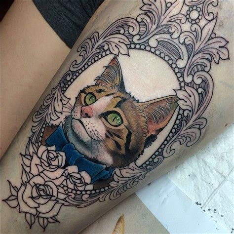 cat tattoos tumblr cat portrait www pixshark images