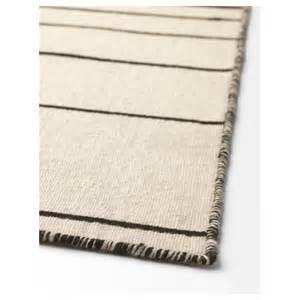 ikea white rug ristinge rug flatwoven handmade white black 200x300