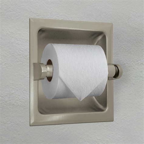 toilet paper holder recessed toilet paper holder brushed nickel knowledgebase