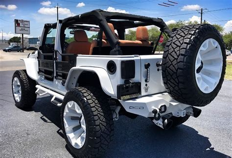 jeep hardtop custom 2017 jeep wrangler unlimited white out custom lifted