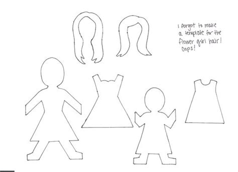 how to make a paper doll chain template bridesmaid requests paper doll chain paper doll