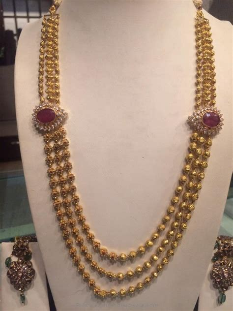 Jual Jfashion New Layer Gamis Necklace Plus gold haram jewellery designs from psj south india jewels