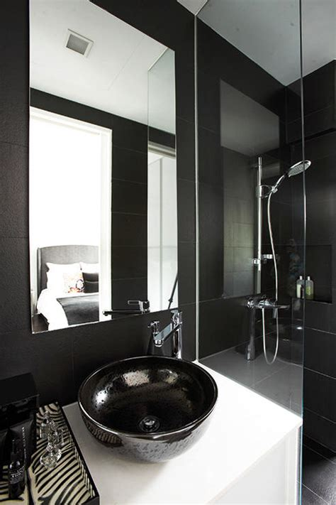 9 bathroom designs that use dark colours home amp decor