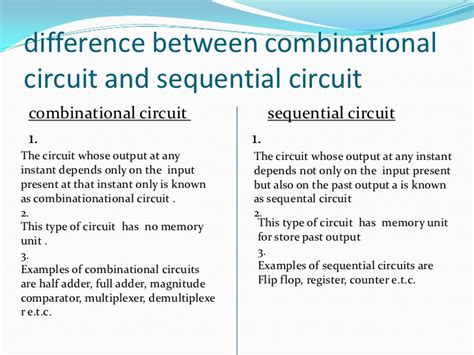 difference between integrated circuit and semiconductor difference between sequential and combinational circuits eduregard