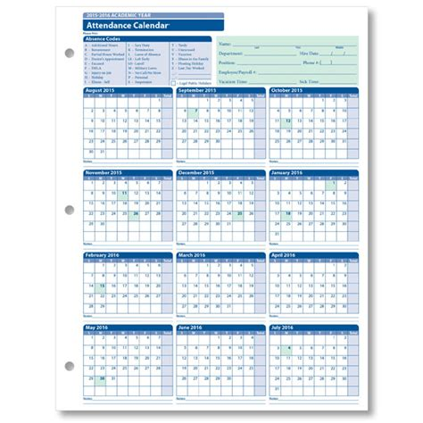 Employee Attendance Calendar 2016 Free Calendar Template 2018 8 Best Images Of Vacation Tracker Calendar 2016 Printable Employee Vacation Calendar Template