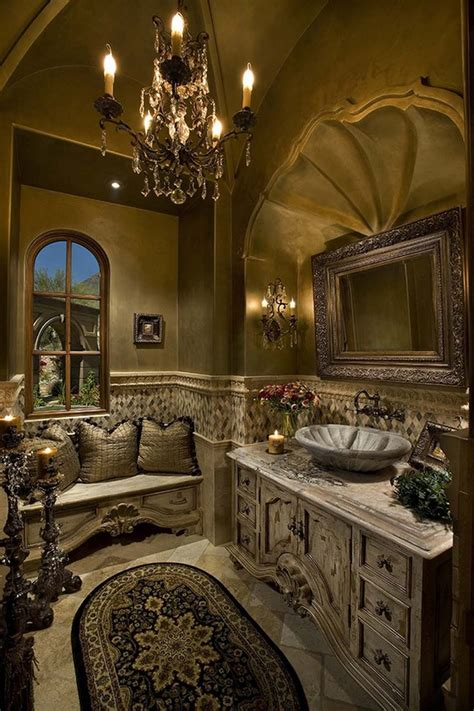 Rustique Interiors by 15 Astonishing Mediterranean Bathroom Designs