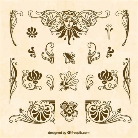 ornaments collections brown ornaments collection vector free