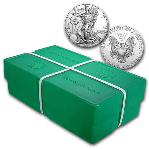 1 Oz Silver American Eagle Box 500 Coins - 1oz american silver eagles backdated box of 500