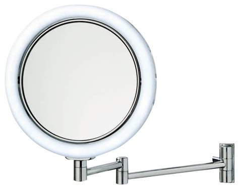 Illuminated Magnifying Bathroom Mirrors | smile 702 illuminated magnifying mirror contemporary