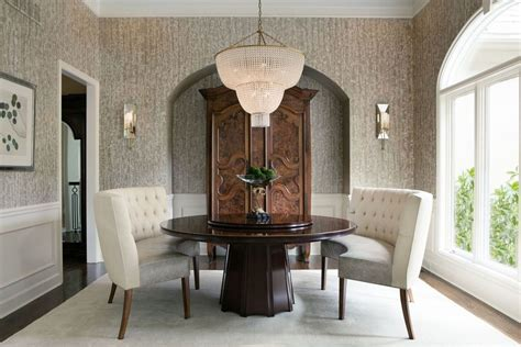 round table with banquette seating outstanding curved dining bench with dark wood round table