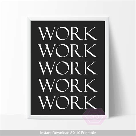 printable work quotes cute office decor work quote printable office wall art