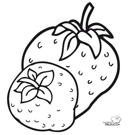 imagenes para colorear fresa fresas ricas dibujalia dibujos para colorear
