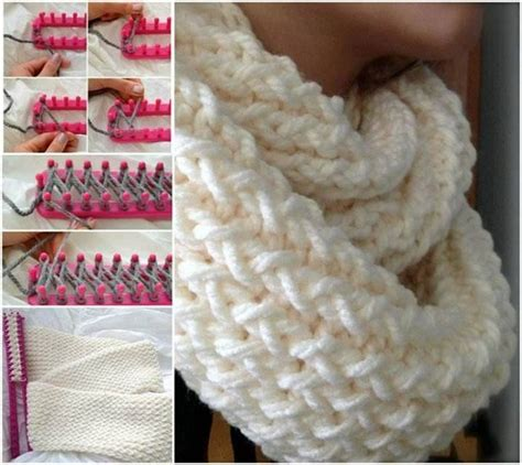 easy loom knitted scarf wonderful diy easy loom knitted scarf stick it loom