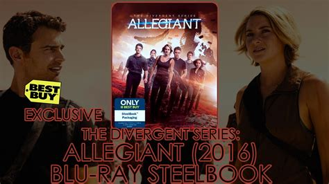 Steelbook Divergent Best Buy the divergent series allegiant 2016 best buy exclusive