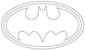 batman logo outline to print and use symbols pinterest