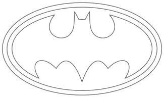 batman symbol template batman logo outline to print and use symbols