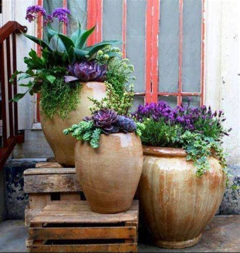 35 front door flower pots for a impression