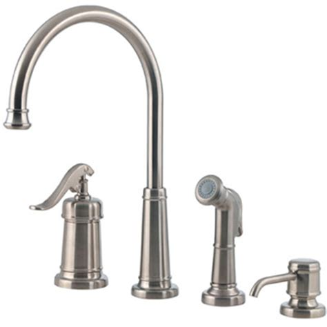 kitchen faucet 4 hole price pfister gt26 4ypk ashfield 4 hole kitchen faucet