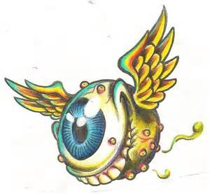 famous flying eyeball drawing flying eye csp10335801