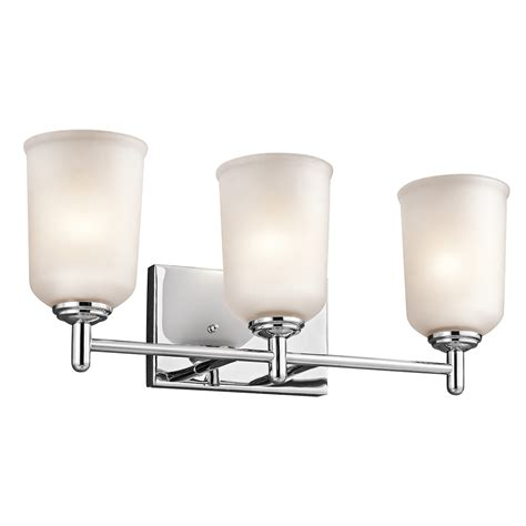 kichler bathroom vanity lighting kichler 45574ch shailene bathroom vanity light